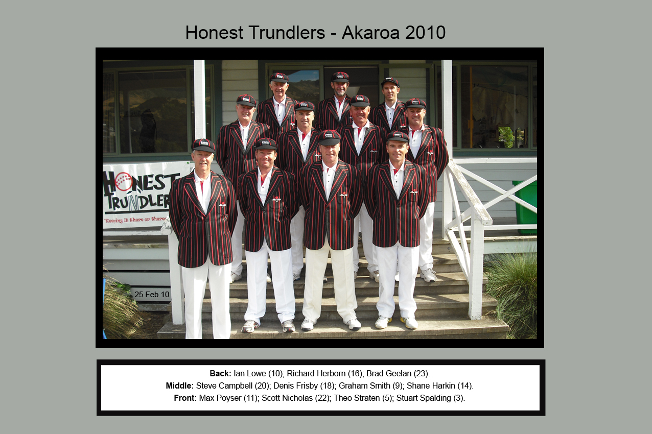 Honest Trundlers - Akaroa 2010 Official Edition