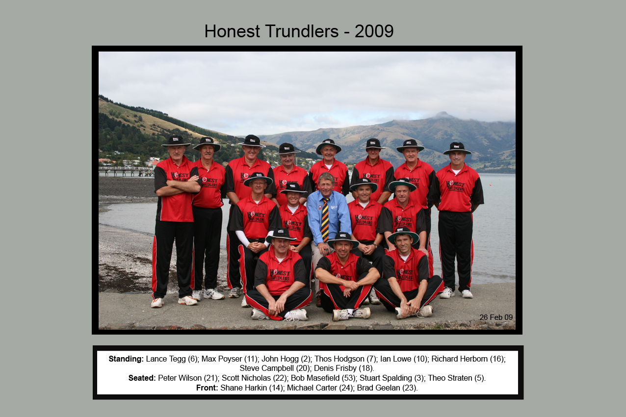 Honest Trundlers - ChristChurch 2009 Official Edition
