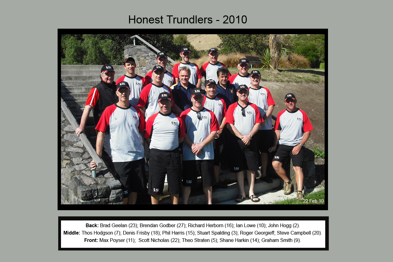 Honest Trundlers - ChristChurch 2010 Official Edition