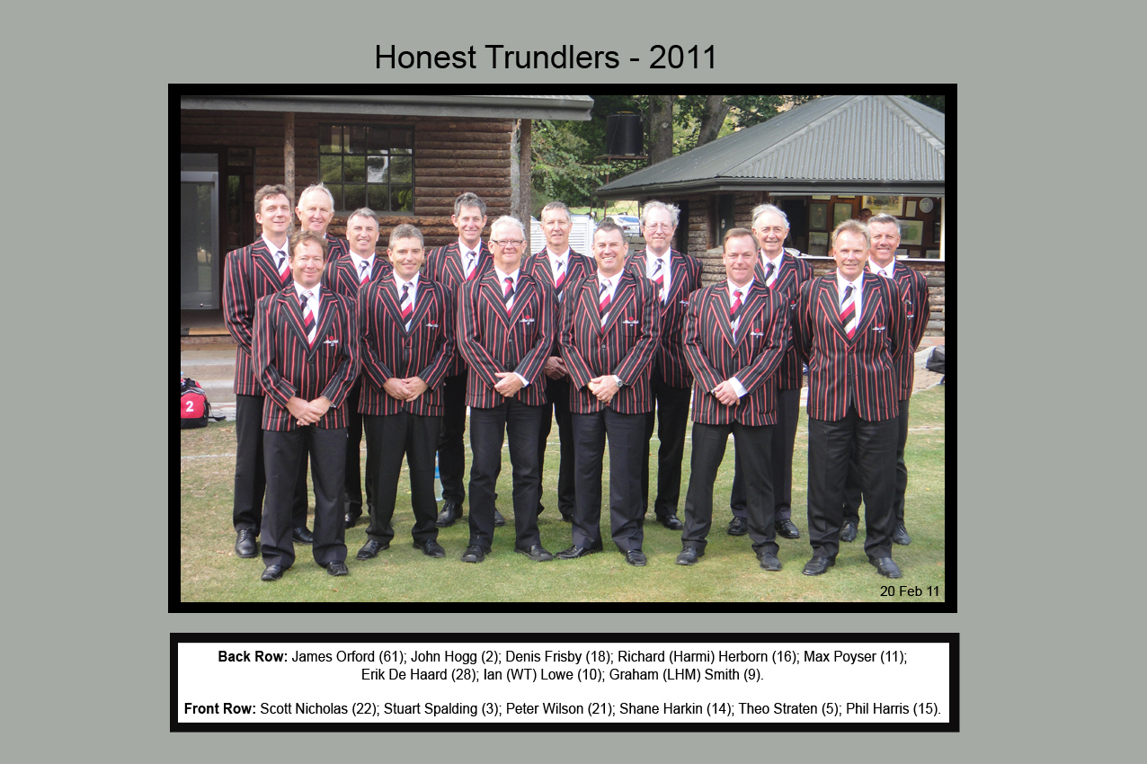 Honest Trundlers - ChristChurch 2011 Official Edition