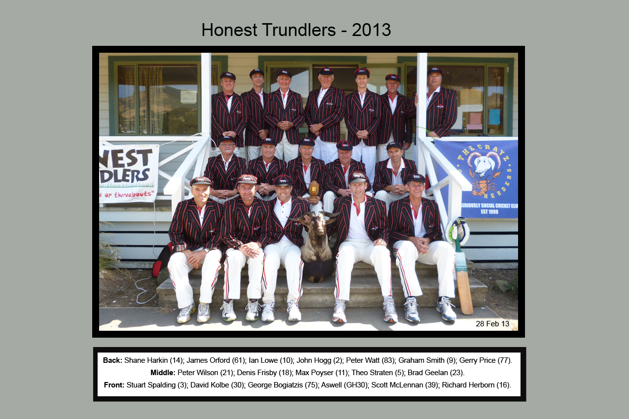 Honest Trundlers - Christchurch 2013 Official Edition