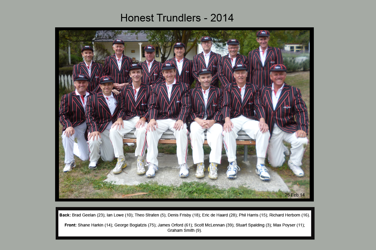 Honest Trundlers - Christchurch 2014 Official Edition